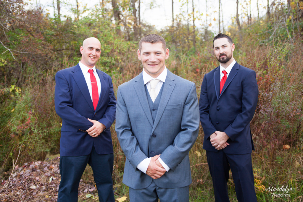 Groom and groomsmen portrait.